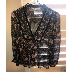 Zara floral blouse worn once!